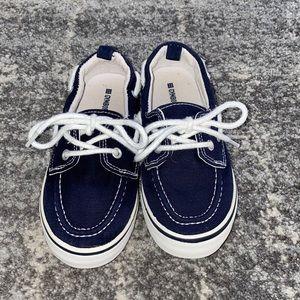 Boy's Gymboree Navy & White Boat Shoes Size 11